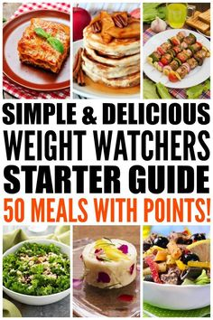 Looking for simple Weight Watchers meals with points to help make your weight loss plans as easy and delicious as possible? We've rounded up 50 fabulous meals for breakfast, lunch, dinner, and dessert, and even threw in a few appetizers for good measure!