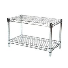 "14"" Depth Chrome Wire Shelving Unit with 2 Shelves : The Shelving and Storage Store, by Shelving, Inc."