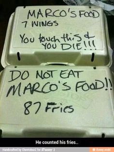he counted his fries.....