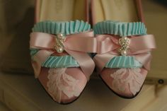 Marie Antoinette, Shoes  ( these are either in the style of, or from the movie they are not of the time)