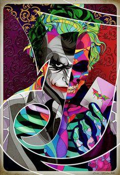Joker Skull Face by Omar Ricardo Molina Luces Más