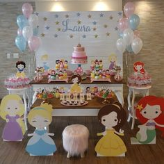 Disney Princess Birthday Party, Princess Theme Party, Baby Princess, Birthday Parties, Modern Princess, Birthday Decorations, Party Themes, Baby Shower, Valentino