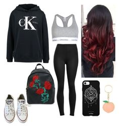 """Back to you"" by anjolea on Polyvore featuring Calvin Klein, Fifth & Ninth and Converse"