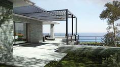 Perspective extérieure de la Villa Bocca Del Oro en Corse
