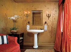 Create a Smashing Powder Room | Traditional Home