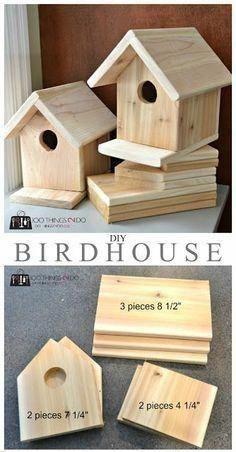 DIY Birdhouse - Bird houses helpful ideas on intelligent Fine Wood Projects To Make keys - Woodworking Patterns, Woodworking Projects Diy, Fine Woodworking, Woodworking Furniture, Popular Woodworking, Woodworking Apron, Youtube Woodworking, Rockler Woodworking, Woodworking Machinery