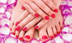 Groupon - $ 25 for $55 Worth of Mani-Pedi — The Latest Looks by Selena Late in Glendale. Groupon deal price: $25