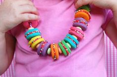 Edible cookie necklace!  I love this!