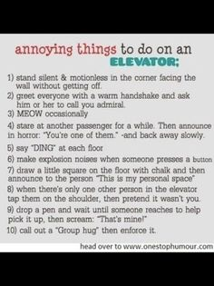 101 ways to annoy your parents
