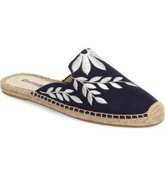 Main Image - Soludos Embroidered Espadrille Mule (Women)
