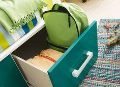 #Organizar la #habitación de los niños. #Dormitorio Niko de #Kibuc con cajones bajo la cama.