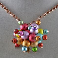 Hand Beaded Explosion of Color Necklace by oscarcrow on Etsy, $28.00