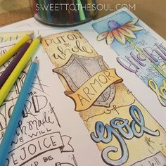 Armor of God Bible Journaling Template from Sweet To The Soul - Soul Inspired