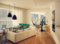 Barratt London - Aldgate Place Living Room Interior CGI by www.virtualviewing.co.uk