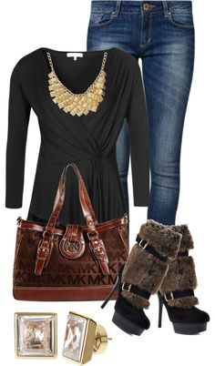"""MICHAEL KORS BAG"" by stizzy on Polyvore"