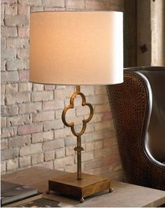 Loving this Quatrefoil Table Lamp also available in Aged Iron and Belgian White at www.circalighting.com