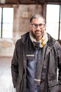 Knit man scarf