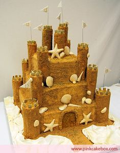 sandcastle cake... ice cream and digestive biscuits, not forgetting the guylian seashells, all some of my favourite things.