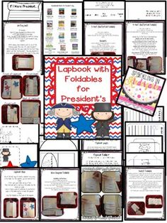 President's Day Foldables$ Lapbook