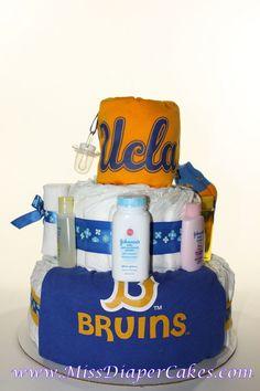 Baby UCLA Bruins Diaper Cake!