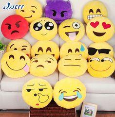 Nouvelle 7 Styles souple coussin Emoji émoticônes Smiley jaune coussin rond peluche peluche poupée de noël cadeau pendentif belle jouets dans Coussin de Maison & Jardin sur AliExpress.com   Alibaba Group