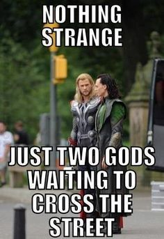 Even gods have to follow traffic laws. (Except for Loki, because he'd be all I DO WHAT I WANT.)