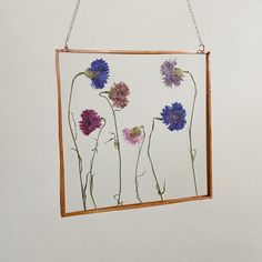 @everglowglass on instagram Hanging Flower Wall, Stained Glass Art, Cute Home Decor, Hand Painted, Hanging, Tapestry, Wall Hanging, Pressed Flowers, Home Decor