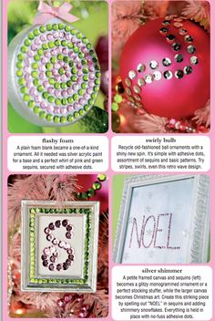 All I want for Christmas is sequins! Add sparkle to DIY ornaments and artwork for a dazzling display.