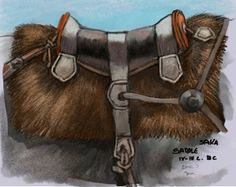 Dariusz caballeros: Ancient Eurasian Nomad Horse -saddle and bit