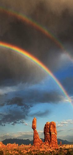Beautiful rainbow over Balanced Rock, Utah, USA | by Jason Branz