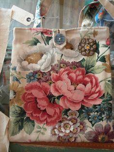 shoulder bag - vintage fabrics