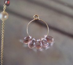 Pink Glass Droplet Pendant by CorrettiDesigns on Etsy, $5.00