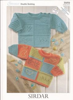 "Sirdar Snuggly DK Knitting Pattern 3959 Sweaters w/ by brokemarys, $3.99 [ ""Sirdar Snuggly DK Knitting Pattern 3959 Sweaters w Easy Embroidery Detail NB"" ] # # #Baby #Knitting #Patterns, # #Yarn #Needle, # #Computer #File, # #Computers, # #Yarns, # #Retail, # #You #Are, # #Do, # #Tric"