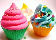 NOT edible, these are bathbombs but i thought they were totally adorable! And they look soo much like cupcakes I could just eat them all up but sadly I'm not aloud to