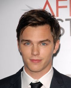nicholas hoult.....holy shit I thought I was the only one whose eyebrows did that. ..girliest thing I'll ever say