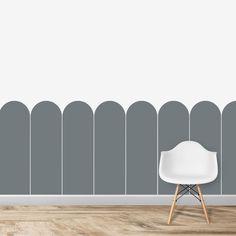 Scallop Panels Wallpaper - Blue