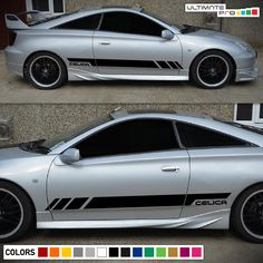 Sticker Decal Side Door Stripes for Toyota Celica GT S Racing Lip Wing New Sports Cars, Exotic Sports Cars, Sport Cars, Exotic Cars, Bmw Classic Cars, Classic Car Show, Toyota Celica, Car Insurance Rates, Jaguar Xk