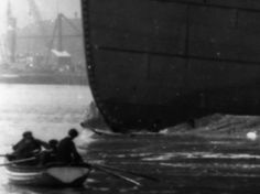 Watching the Titanic being launched.