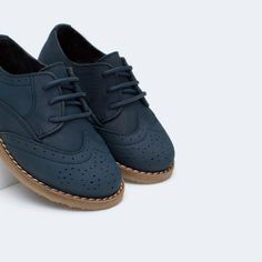 LEATHER BROGUE BLUCHERS-Shoes-Baby boy-Baby | 3 months - 3 years-KIDS | ZARA United States