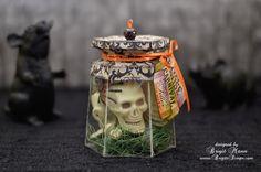 "Brigit's Scraps ""Where Scraps Become Treasures"": Skeleton in a jar using Unity Stamps"