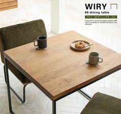 ヴィンテージ感溢れる、メンズライクな雰囲気が魅力の「WIRY(ワイリー)」シリーズ。Re:CENOオリジナルの、コンパクトな2人掛けダイニングテーブルです。
