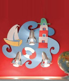Children's Colourful Seaside Themed Wall Light - Perfect for any little sailor to enjoy.