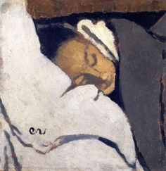 Girl Sleeping-1892 by Edouard Vuillard                                                                                                                                                                                 More