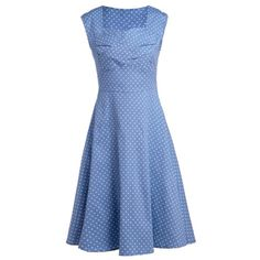 20$  Watch here - http://diu4y.justgood.pw/go.php?t=138742809 - Retro Polka Dot Print Sweetheart Neck Sleeveless Dress For Women
