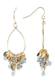 Spring Street Glitzy Bead Dangle Earrings
