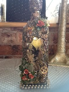 Bottle Lights, Pillar Candles, Fairy, Fantasy, Decorated Bottles, Fantasy Books, Fantasia, Candles, Angel
