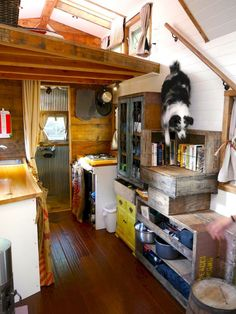Clever Tiny House Loft Stair Ideas (52)