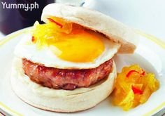 A longganisa patty with a fried egg on a toasted muffin, makes for a lovely grab-and-go breakfast.
