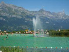 Plan d'eau biotope de Combloux proche du Mont Blanc