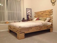 www.giesendesign.com diy bed frame with white drapery